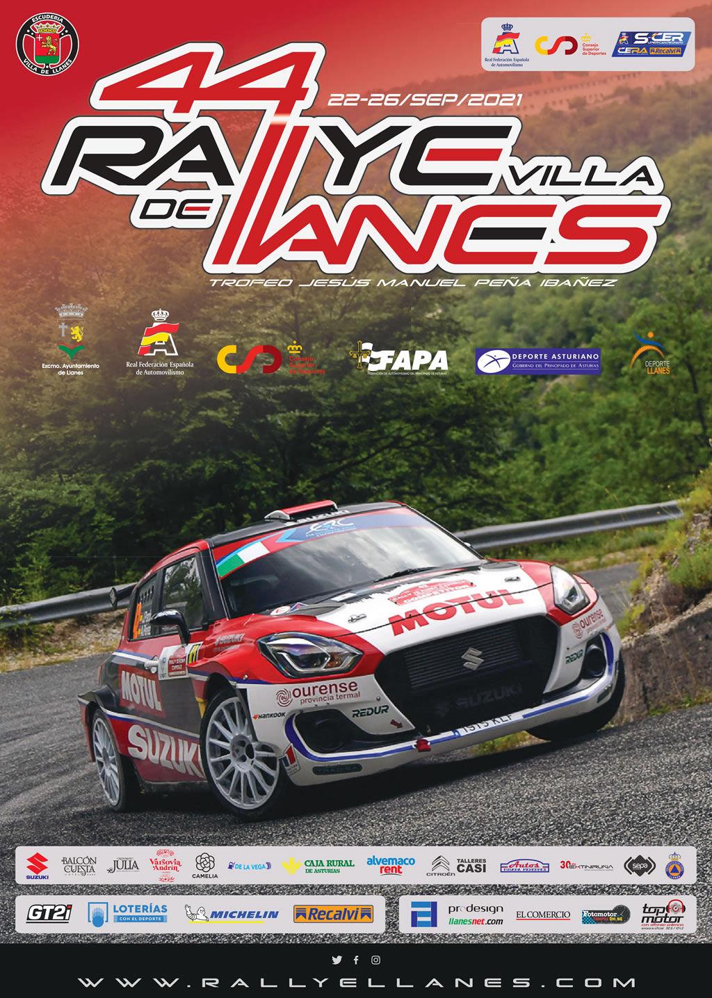 SCER + CERA: 44º Rallye Villa de Llanes - Trofeo Jesús Manuel Peña Ibánez [24-25 Septiembre] Cartel-44-rallye-llanes-1025-1024x1434